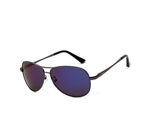 4 et colorés polarisées hommes Lunettes soleil pour de soleil soleil Lunettes lunettes femmes de soleil conduite crapaud miroirs lunettes de de Miroir 8 de de Couleur w8SnAA
