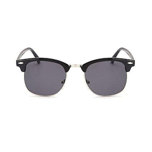 Aoligei Riz de Vintage classique nail color film fashion tendance lunettes de soleil réfléchissantes centaines tour lunettes de soleil C