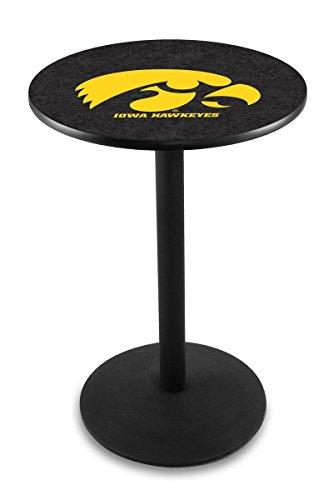 Licensed Iowa Hawkeyes Pub Table (Holland Bar Stool L214B University Of Iowa Officially Licensed Pub Table, 28