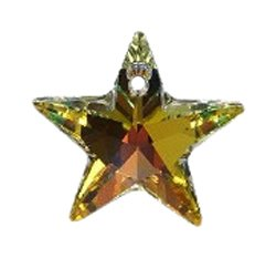 Swarovski 6714 Star Pendants, Aurora Borealis, Crystal, 20mm, 2 Per Pack