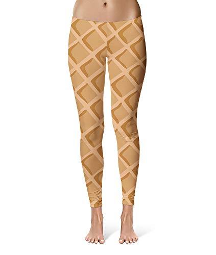 Icecream Waffle Cone Sport Leggings - Full Length,