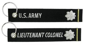 US Army Lt Colonel Keychain
