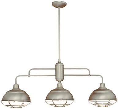 Neo-Industrial 3 Light Kitchen Pendant Finish Satin Nickel
