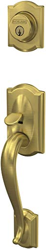 (Schlage FC58CAM608 Custom Camelot Keyed Entry Single Cylinder Sectional Handleset - Exterior Only)