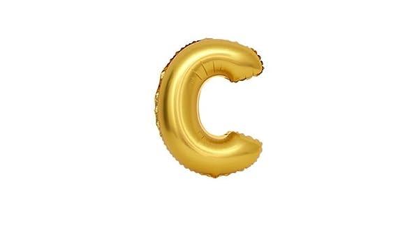 Globo de la hoja 100 cm Balón, Dorado letras C, relleno de helio ...