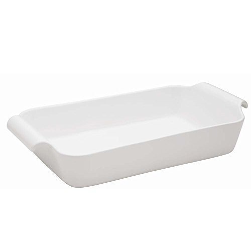 Oxford C04I Professional Porcelain Deep Roaster/Baking Dish with Handle, X-Large, White