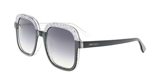 Jimmy Choo Glint/S Sunglasses Black Glitter Gray / Dark Gray - Choo Sunglasses Jimmy Glitter