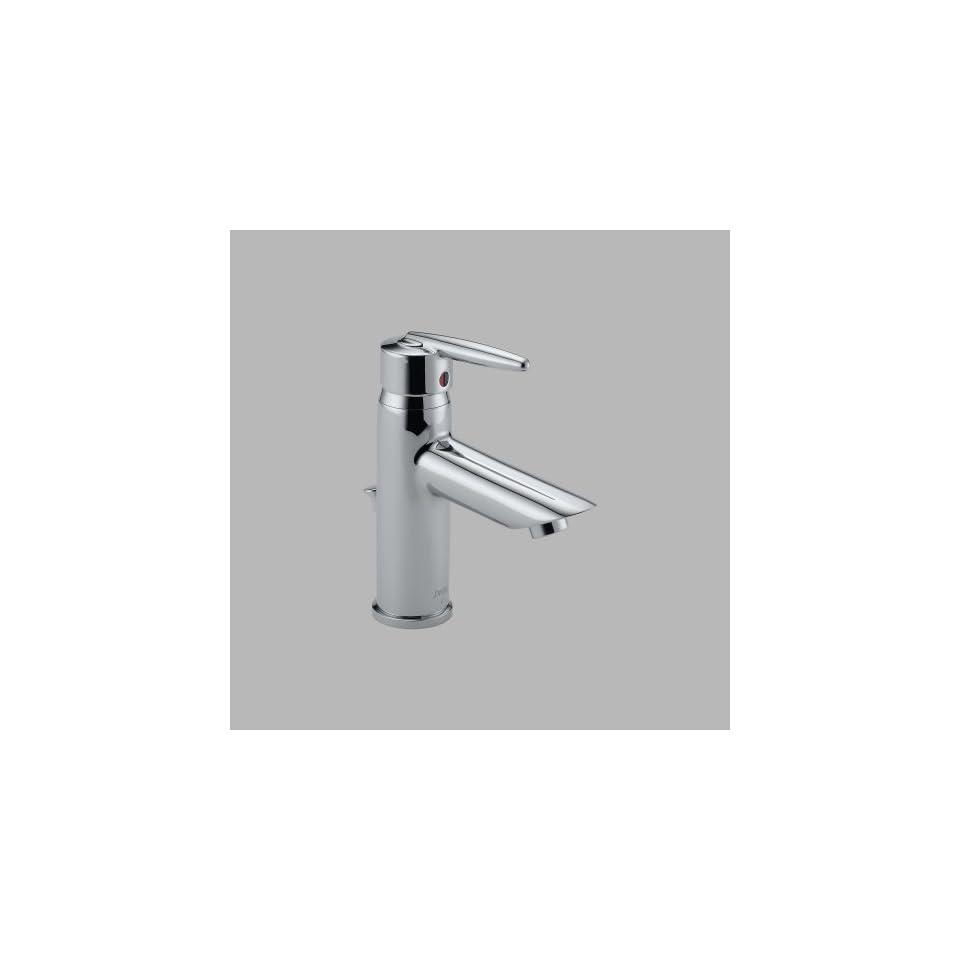 Delta 585LF MPU Grail Single Handle Centerset Lavatory Faucet, Chrome