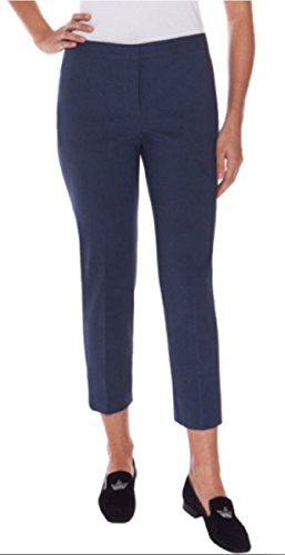 Mario Serrani Womens Comfort Stretch Fabric Slim Fit Pants (6x630, Navy Medallion)