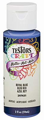 Testors 297431A Acrylic Craft Paint, 2-oz, Royal Blue - Quantity 6