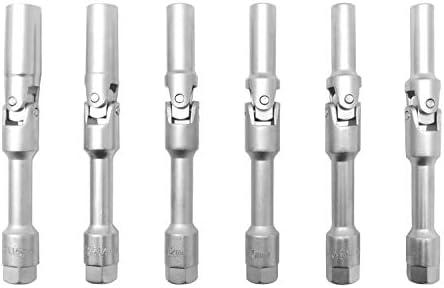 Glühkerzen-Gelenkschlüssel Satz 6 tlg Glühkerze Schlüssel 3//8 Zoll Stecknuss