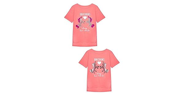 Primark - Camiseta de manga corta - para niña Rosa rosa 14-15 ...