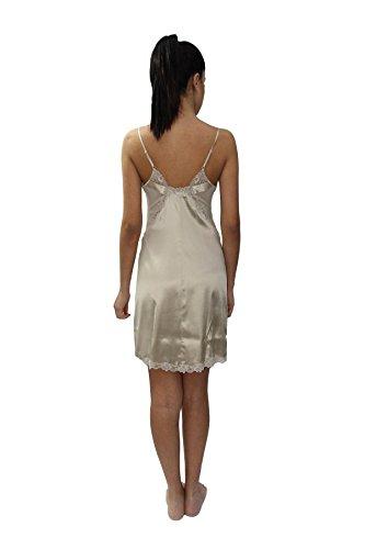 La Perla Elegante Camicia da Notte Corta in Pura Seta con Pizzo Applicato
