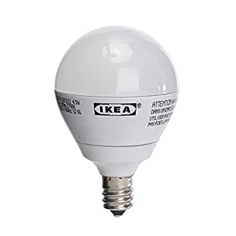 Ikea Ledare E12 200 Lumen, 3.0 Watts, Small LED Light Bulb, Opaque