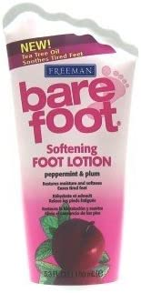 Freeman Bare Foot Lotion PepperMint Plum 5.3 oz. 3-Pack