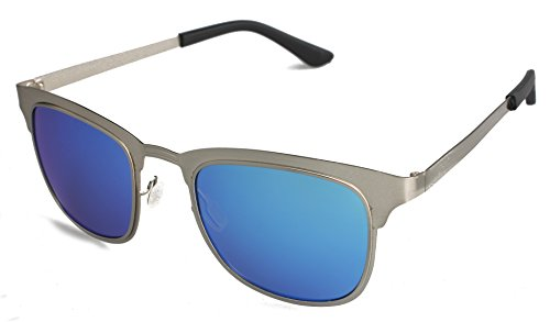 Rimless Polarized Sunglasses Gifts for Women/Men Metal Frame Mirror Lens - Big 2015 Glasses Are Style In