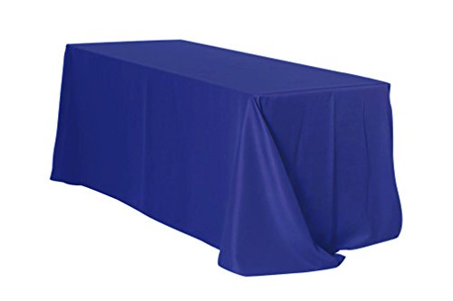 "Your Chair Covers Rectangular Polyester Tablecloths, 90"" W x 132"" L, Royal Blue"