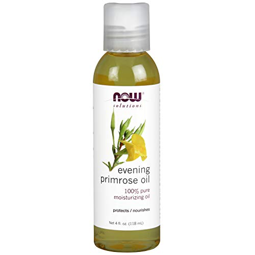 NOW Solutions, Evening Primrose Oil, 100% Pure Moisturizing Oil, with Essential Fatty Acids 4-Ounce (Benefits Of Evening Primrose Oil On Face)