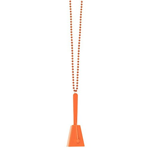 (Orange Clacker Necklace, Party)