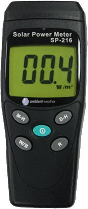 Gauge Solar Weather Light (Ambient Weather TM-206 Solar Power Meter (Pyranometer))