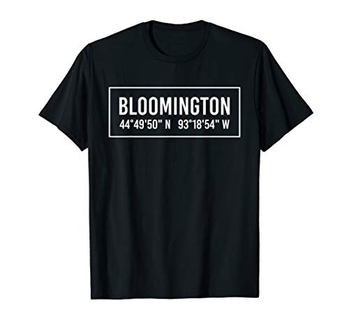 City Of Bloomington Mn (BLOOMINGTON MN MINNESOTA Funny City Coordinates Home Gift)