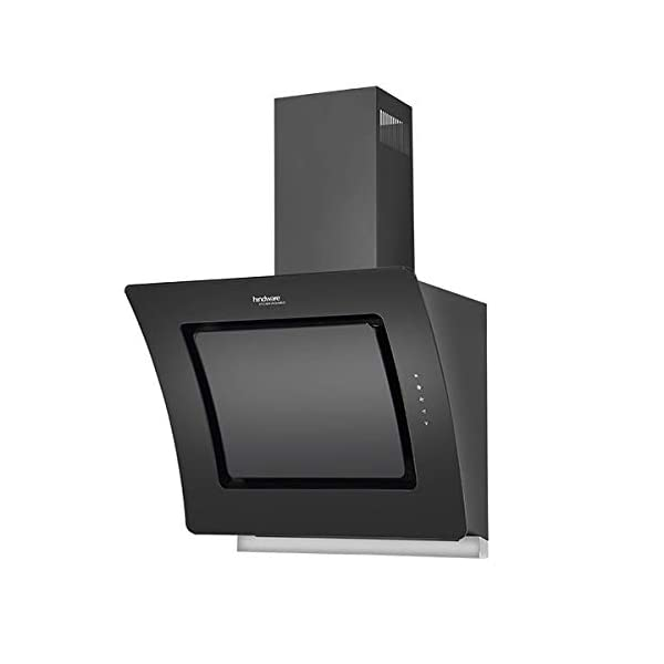 Hindware Valencia 60 Cm Wall Mounted Chimney For Kitchen, Auto Clean Black Hood 1100 M3/Hr 2d Suction Technology With…