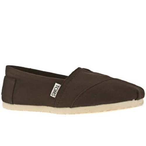 TOMS 2 A07 Chocolate Blanco Classic Zapatillas de para hombre Unisex Alpargata Slipons, color multicolor, talla 10 UK: Amazon.es: Zapatos y complementos