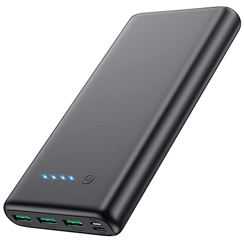 Portable Charger 36800mAh, Power Bank with 6.1 x 3.1 x 0.87 Inch, Black