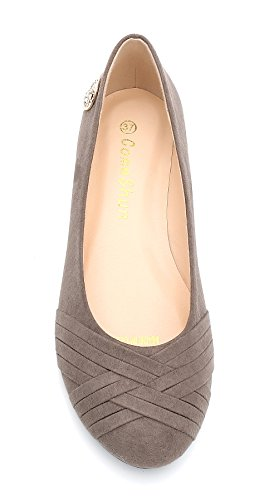 On Slip Flats Grey Shoes Womens ComeShun Comfy Classic Ballet wOHqnnf
