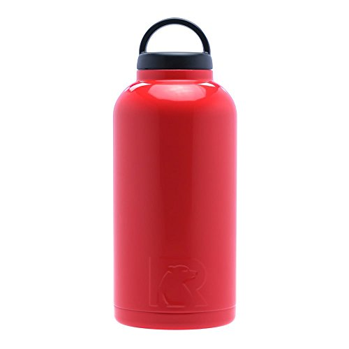 RTIC 285 Double Wall Vacuum Insulated Bottle, 64 oz, Red