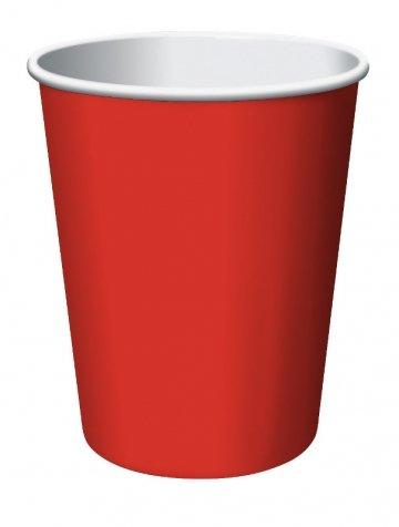 Celebrations! Classic Red 9 oz Paper Cups - 8 ct