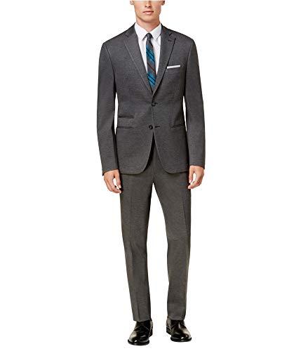 Calvin Klein Mens Heathered Knit Tuxedo, Grey, 40 Regular / 33W x 32L