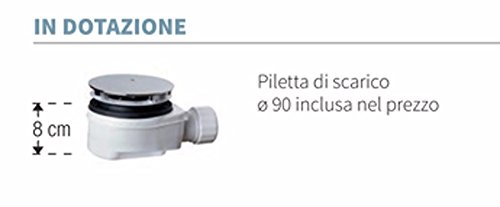 Plato ducha 180x80x4,5cm blanco Novoalugas olympic plus