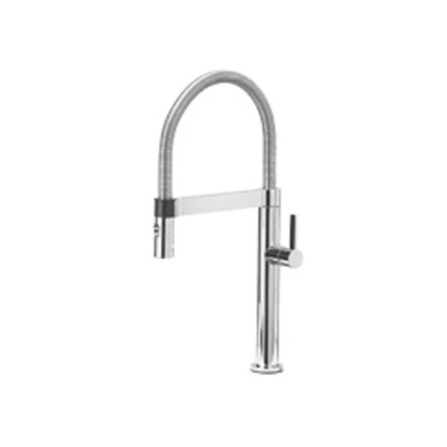Faucet Kitchen Blanco - Blanco 441623 Culina Mini Kitchen Faucet with Pull Down Spray, Small, Satin Nickel, 2.2 GPM,