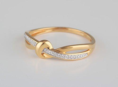 So Diamond Paris-Bague-Diamants-Noeud-Or Jaune 9 carats 375/000-Femme