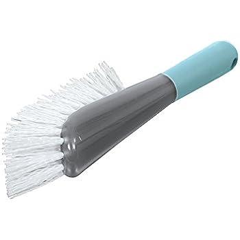 Casabella Smart Scrub Heavy Duty All Purpose Brush, Grey/Aqua