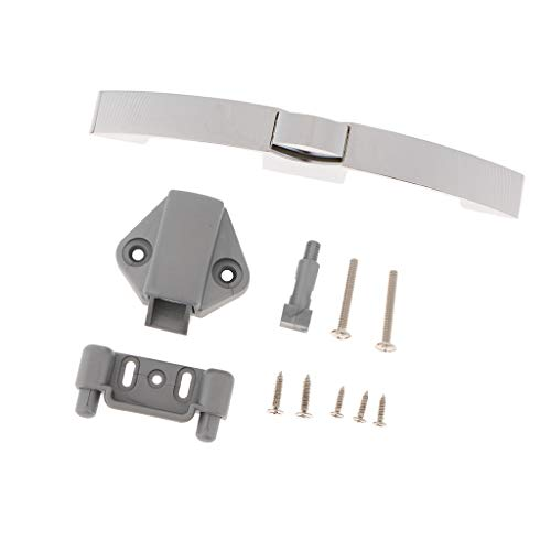 Flameer Pull Type Arc Button Lock for RV Furniture Cupboard Door(160MM Holespacing) - 160mm