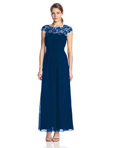 Maxi Cal Emily Sleeve Evening Navy Dresses Long Beauty Lace BUq4xnpvv