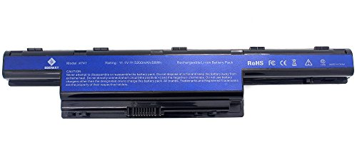 Egoway 5200mAh Laptop Battery for Acer AS10D AS10D31 AS10D41 AS10D51, Aspire 4741 5733Z 5742 5750 7560 7741Z 7750G, TravelMate 5735 5740, Gateway NV55C NV53A NV59C
