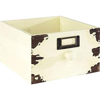 APS 11631 Vintage Caja de madera con compartimento para rotular ...