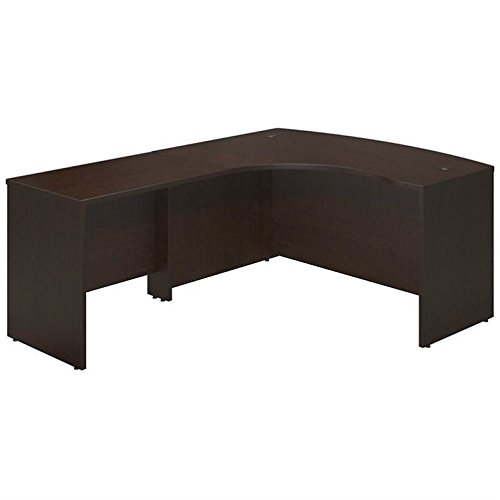 Bush Business Furniture SRE010MR Left Hand Bowfront Desk Shell with 36W Return, Mocha Cherry