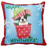 - Happy Howliday Boston Terrier Throw 1818 pillow Case