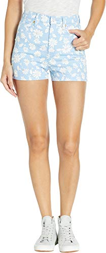(Juicy Couture Women's Denim Pearl Embellished Shorts Blue Chill Sketched 27)