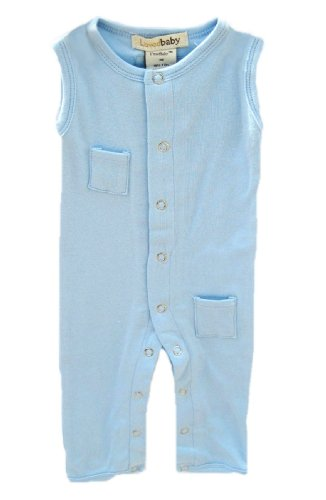L'ovedbaby Sleeveless Overall, Blue Newborn (up to 7 lbs.)