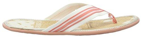 Adelheid Herzallerliebst Sommersandale Kork, Women's Wedge Heels Sandals Mehrfarbig (Streifen Weiß Rosa)