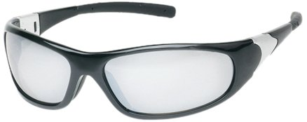 Liberty ProVizGard Cyclone Protective Eyewear with Rubber Temple Tips, Silver Mirror Lens, Black Frame (Case of 12 ()