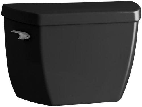 KOHLER K-4484-7 Highline Wellworth 1.0 gpf Toilet Tank, Black Black (Tank Only) (Pressure Lite Bowl Wellworth Toilet)