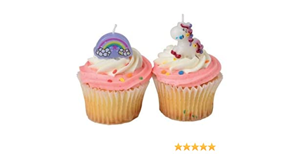 J/&Js ToyScape Unicorn Candle Set Themed Birthday Party Supplies Party Decorations US Toy Pack of 8 Candles