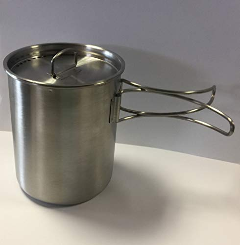 Mil-Spec Adventure Gear Plus MSA02-0900000000 Canteen Cup with Vented Lid, Stainless Steel