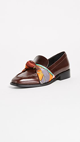Jeffrey Campbell Womens Bollero Scarf Loafers Donkerbruin